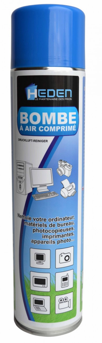 Bombe à air comprimé - 600 ML - HEDEN